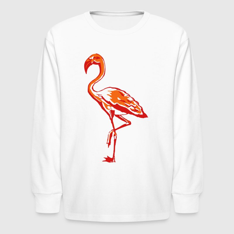 flamingo Kids' Shirts - Kids' Long Sleeve T-Shirt