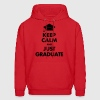Keep Calm and Just Graduate Hoodies - Men's Hoodie