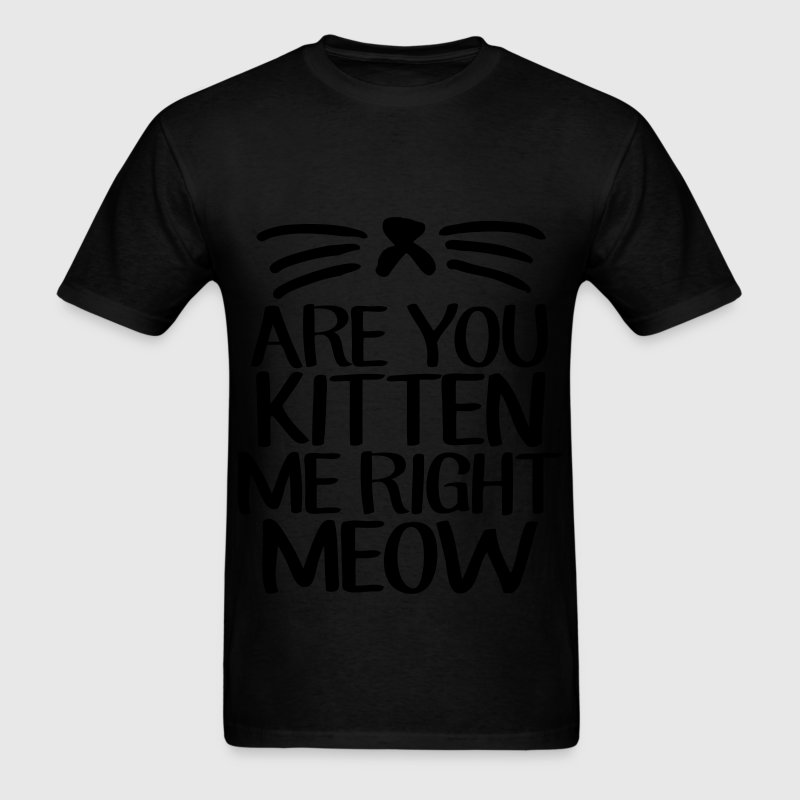 Are You Kitten Me Right Meow T-Shirts - Men's T-Shirt