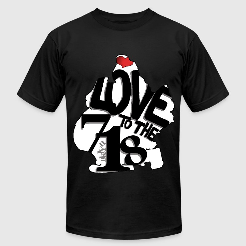 Love to the 718 (Brooklyn) - Men's T-Shirt by American Apparel