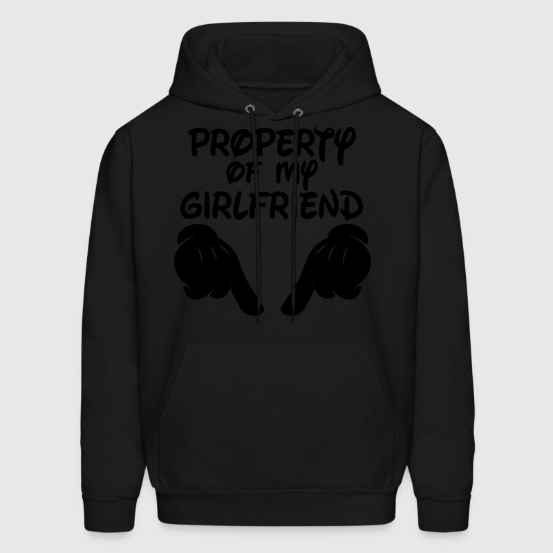 Property Of My Girlfriend Hoodies - Men's Hoodie