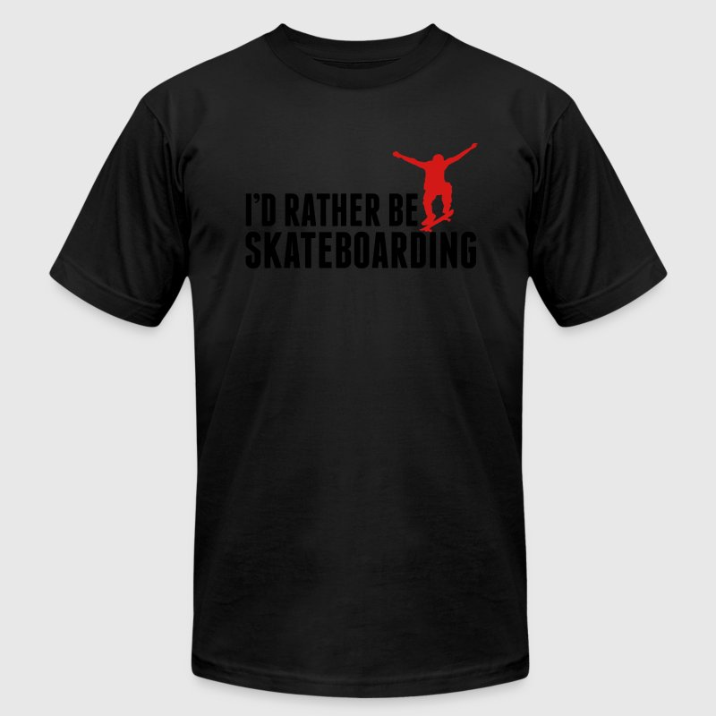 I'd rather be Skateboarding T-Shirts - Men's Fine Jersey T-Shirt