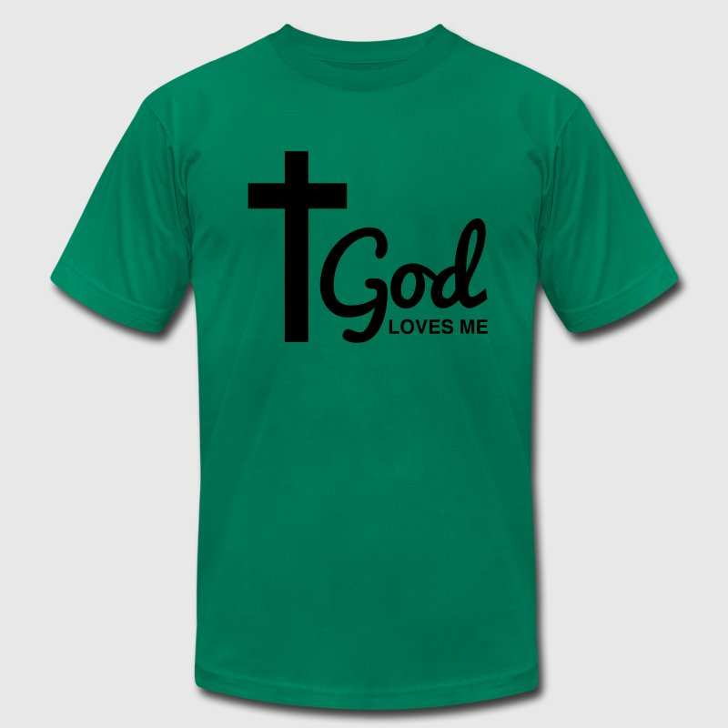 God Loves me T-Shirts - Men's T-Shirt by American Apparel