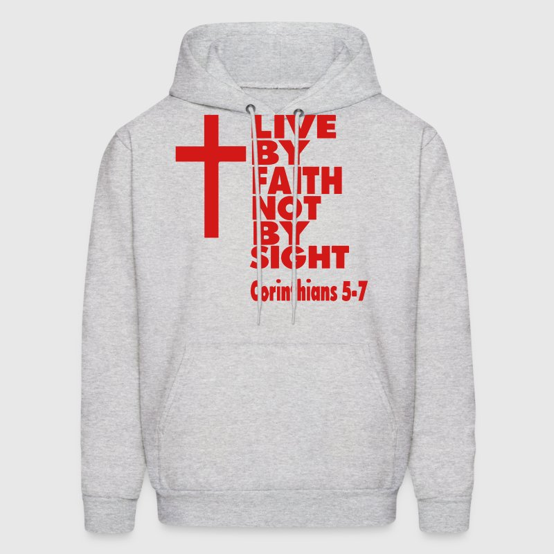 LIVE BY FAITH NOT BY SIGHT - Men's Hoodie