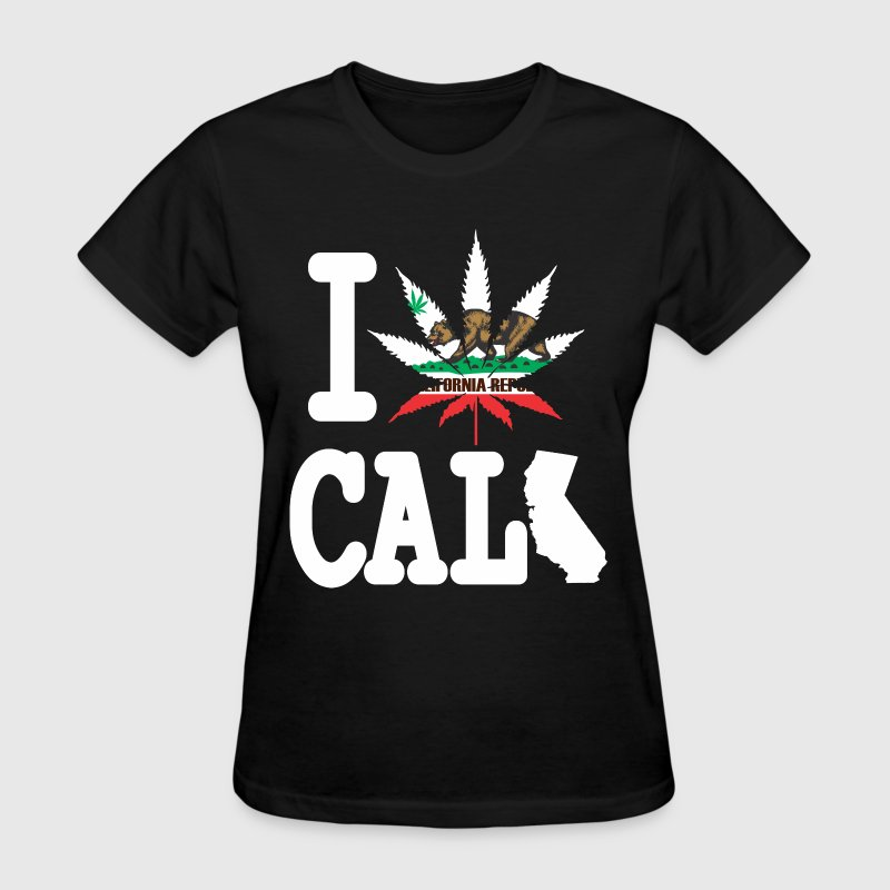 I Weed California Map Women's T-Shirts - Women's T-Shirt