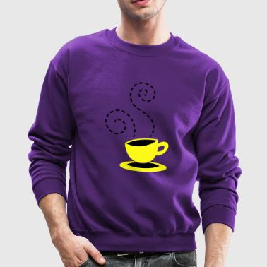 cappuccino coffee hipster cup with steam Long Sleeve Shirts - Crewneck Sweatshirt