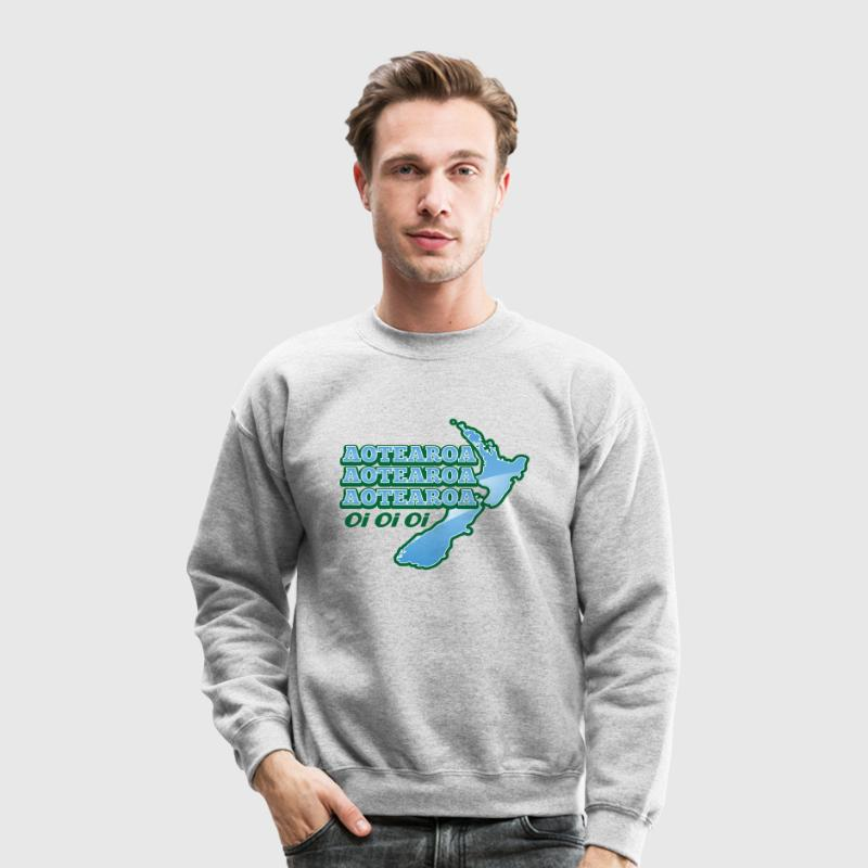 AOTEAROA OI OI OI NEW ZEALAND map  Long Sleeve Shirts - Crewneck Sweatshirt