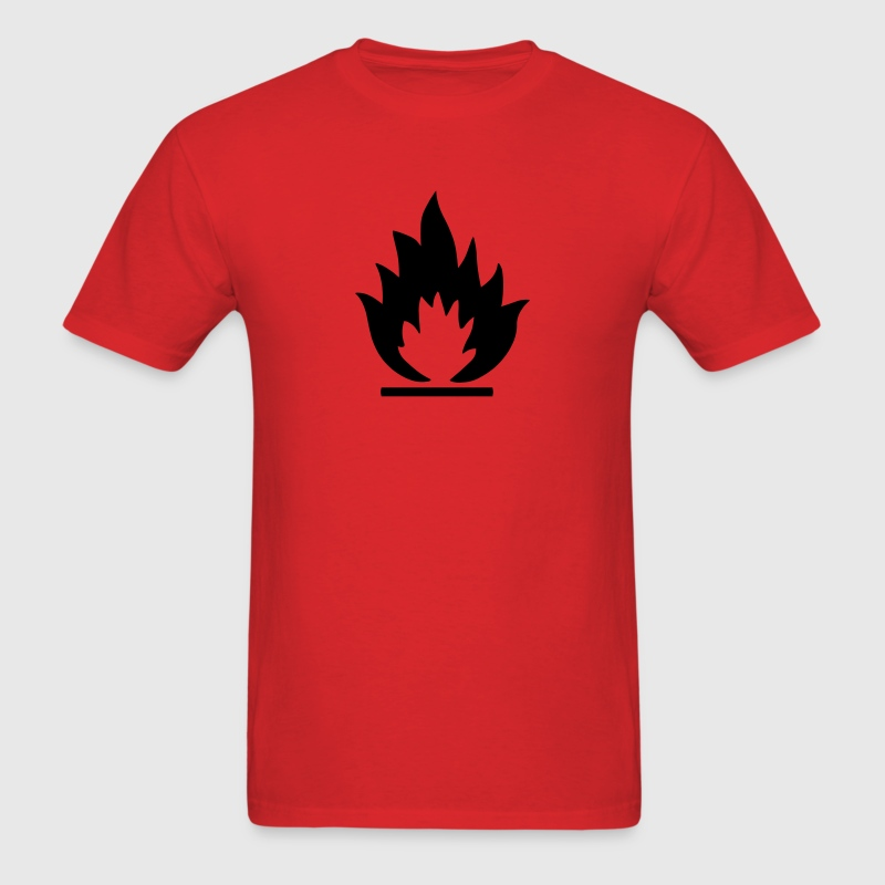 Flammable Symbol T-Shirts - Men's T-Shirt