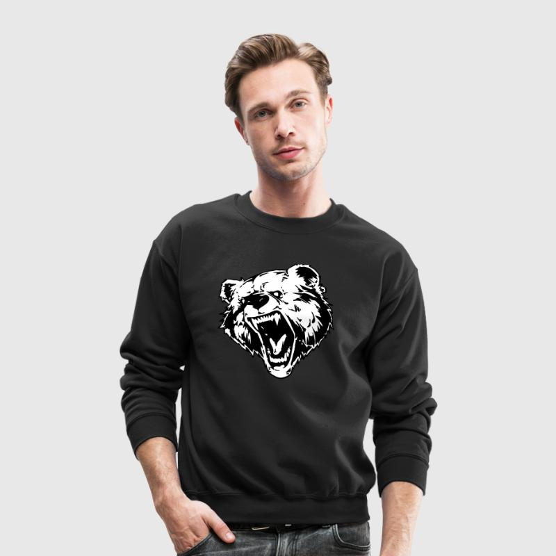 Bear Face  Long Sleeve Shirts - Crewneck Sweatshirt