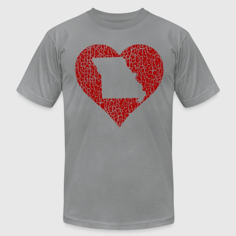 Missouri Heart T-Shirts - Men's T-Shirt by American Apparel