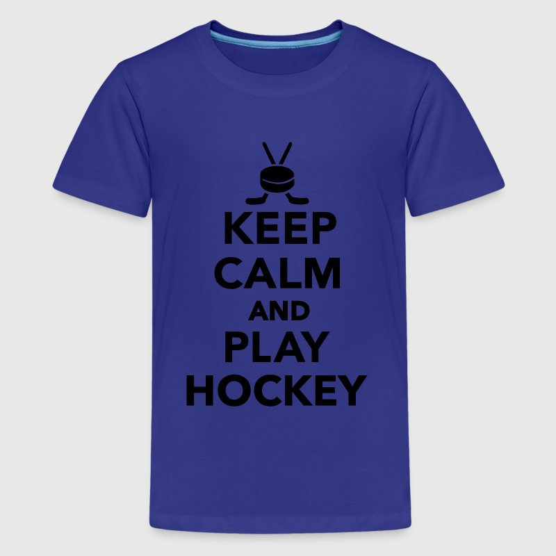 Keep calm and play Hockey Kids' Shirts - Kids' Premium T-Shirt