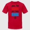 Yes I'm American Yes I Love Soccer T-Shirts - Men's T-Shirt by American Apparel