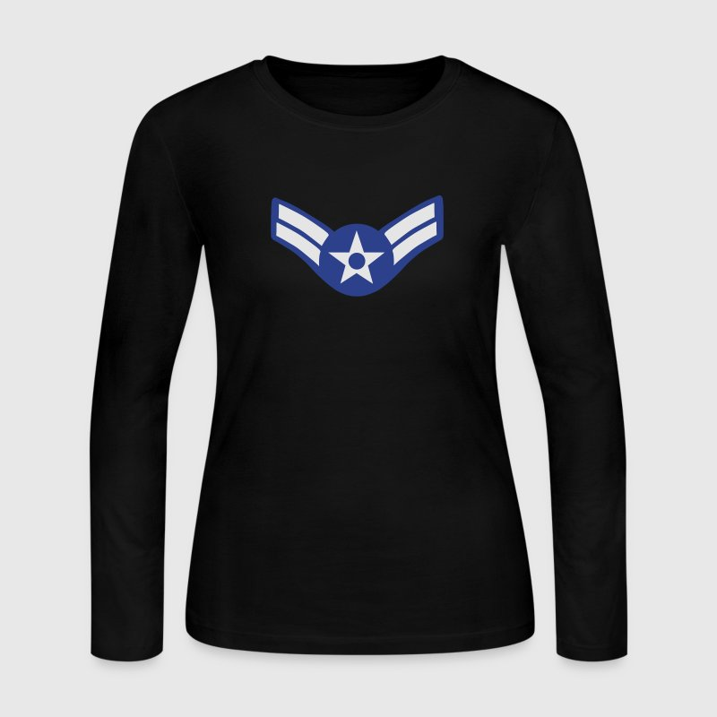 United States Air Force - Airman First Class Long Sleeve Shirts - Women's Long Sleeve Jersey T-Shirt