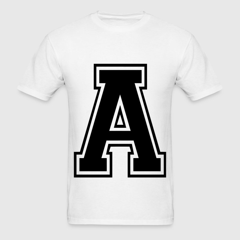 Letter a t shirt spreadshirt for Shirt lettering near me