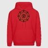 Dharmachakra, Darma Wheel of Law, Buddhist Symbol Hoodies - Men's Hoodie