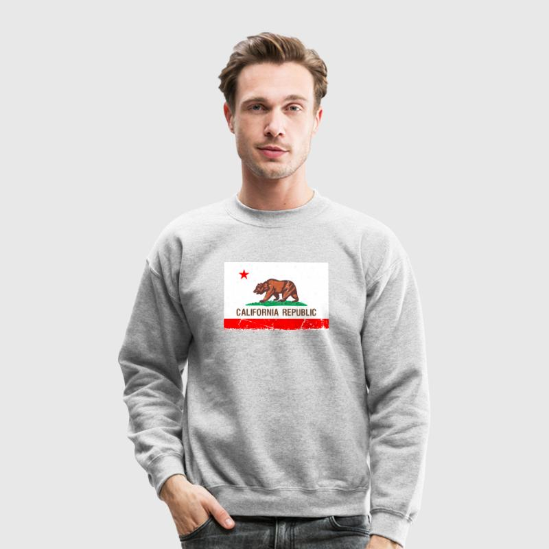 california Vintage Flag Long Sleeve Shirts - Crewneck Sweatshirt