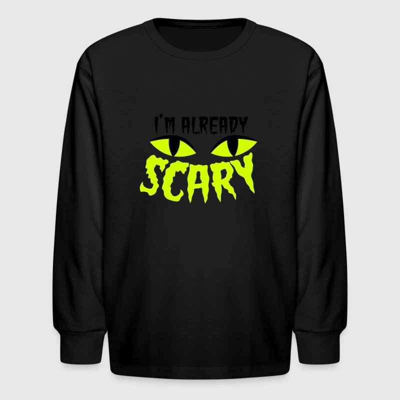 im already scary halloween cat scared eyes kids shirts kids - Scary Halloween Shirts