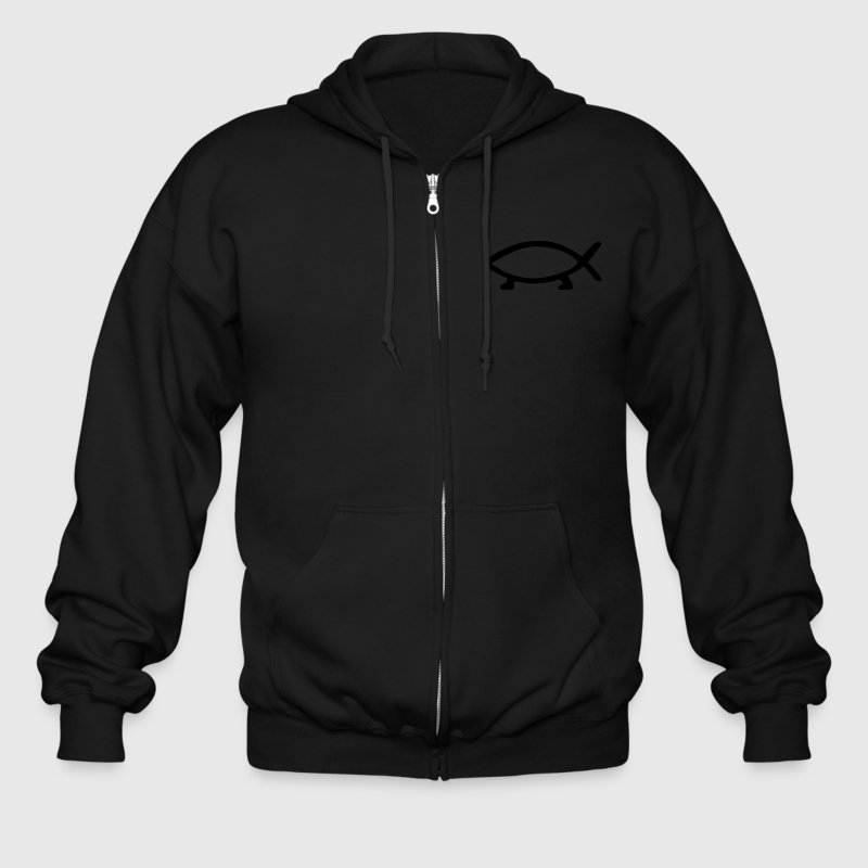 Darwin Fish Zip Hoodies & Jackets - Men's Zip Hoodie