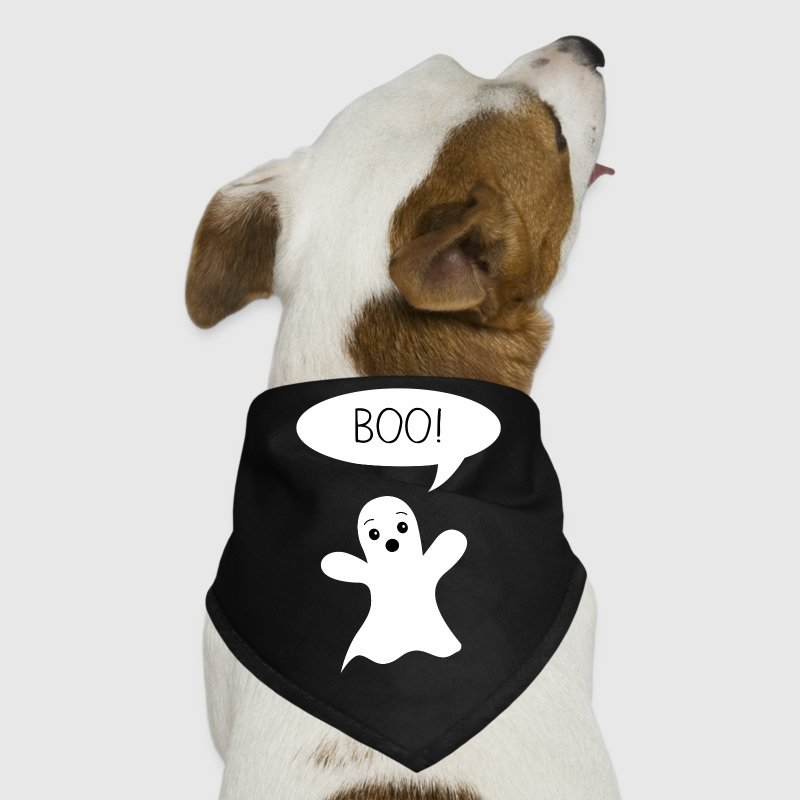 Cute Ghost Says Boo Dog T-Shirts - Dog Bandana