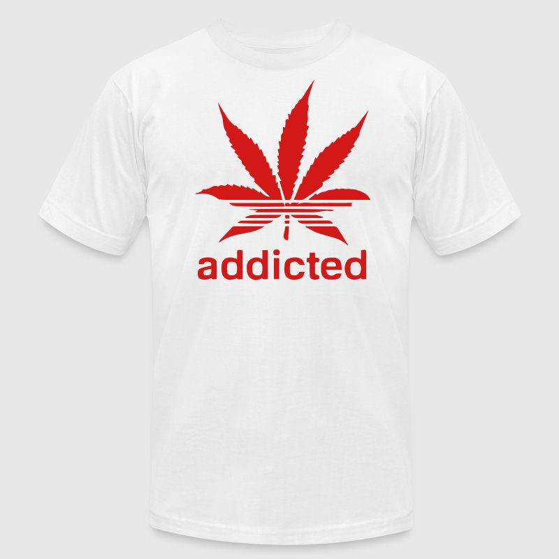 WEED ADDICTED T-Shirts - Men's T-Shirt by American Apparel