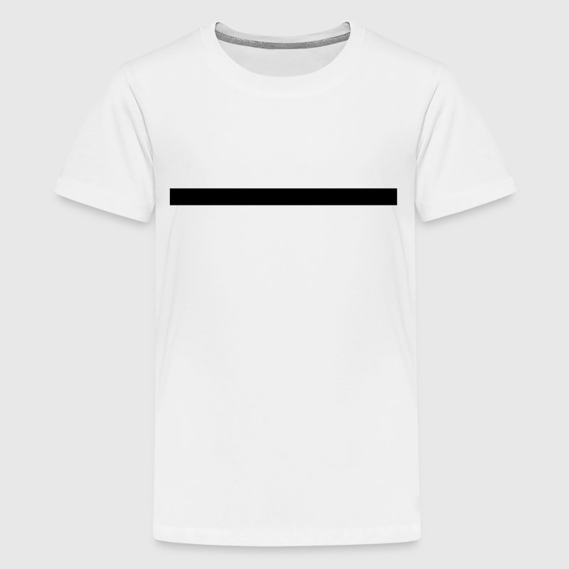 Line, very thick, underlined, underlines, straight Kids' Shirts - Kids' Premium T-Shirt