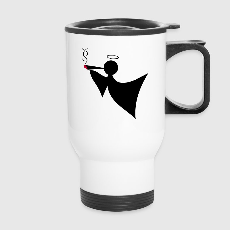 Smoking Angel Bottles & Mugs - Travel Mug
