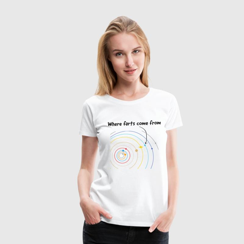 Where Farts Come From Women's T-Shirts - Women's Premium T-Shirt