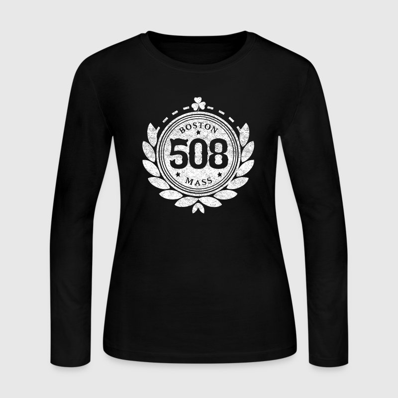 508 Boston Mass People Long Sleeve Shirts - Women's Long Sleeve Jersey T-Shirt