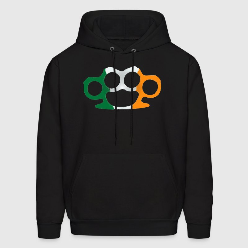 Irish Flag Brass Knuckles  Hoodies - Men's Hoodie