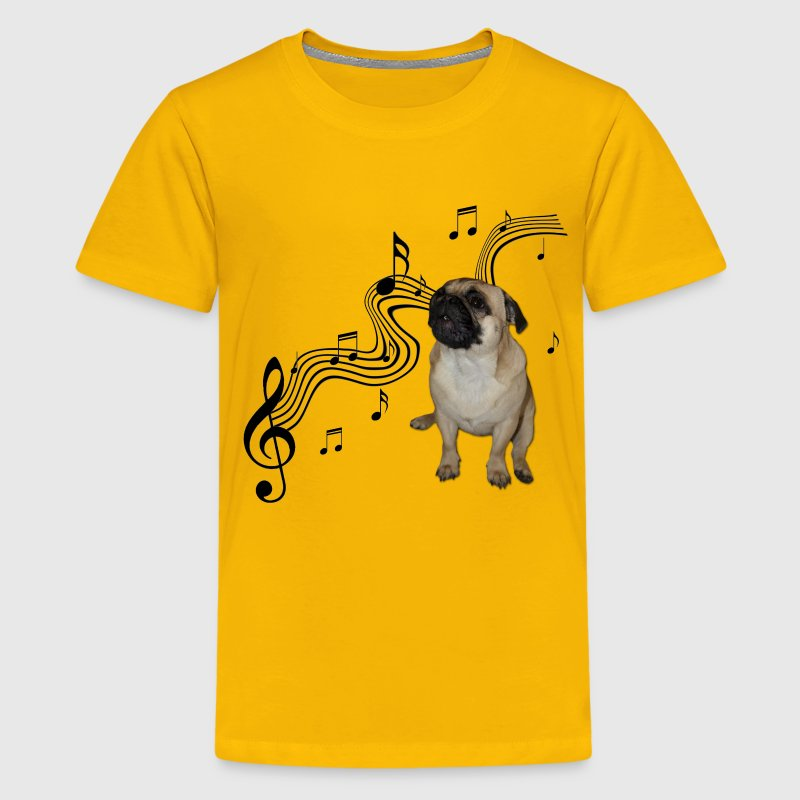 pug shirts for kids music pug with sheet music t shirt spreadshirt 9636