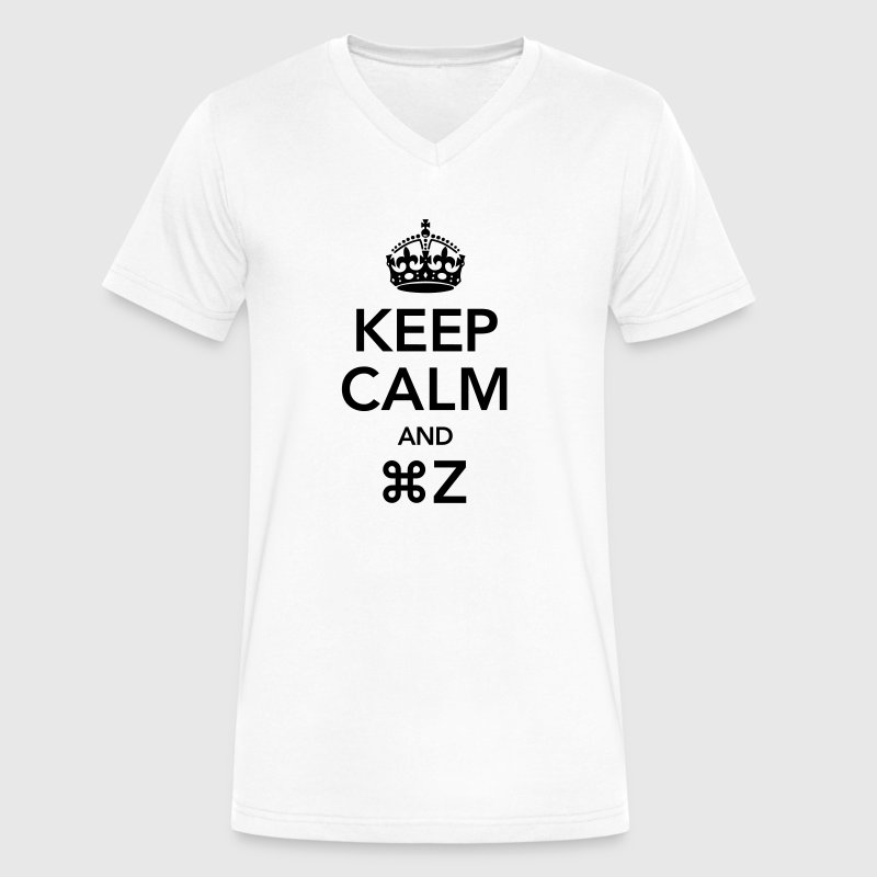 Keep Calm And Command Z T-Shirts - Men's V-Neck T-Shirt by Canvas