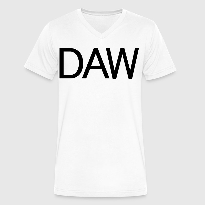 daw T-Shirts - Men's V-Neck T-Shirt by Canvas