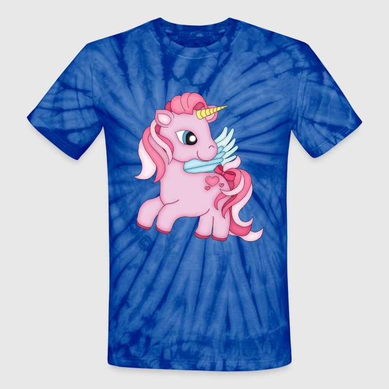 Pinkie  the Pink Unicorn Girl T-Shirts - Unisex Tie Dye T-Shirt