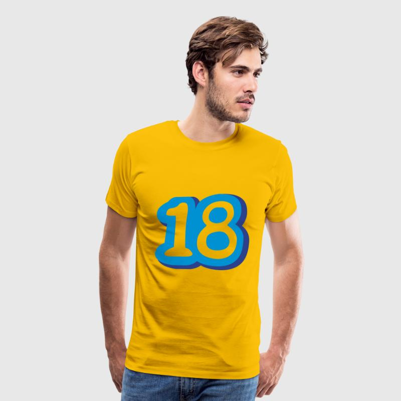 Comic Number 18 T-Shirts - Men's Premium T-Shirt