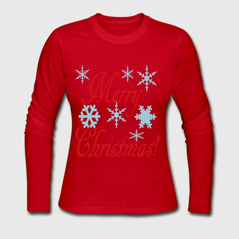 Merry christmas snowflakes2 long sleeve shirt spreadshirt Merry christmas t shirt design
