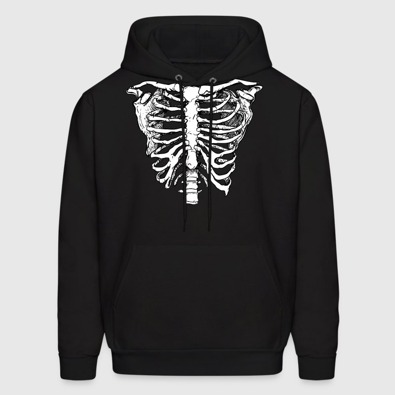 WHITE CREEPY RIB CAGE Hoodies - Men's Hoodie