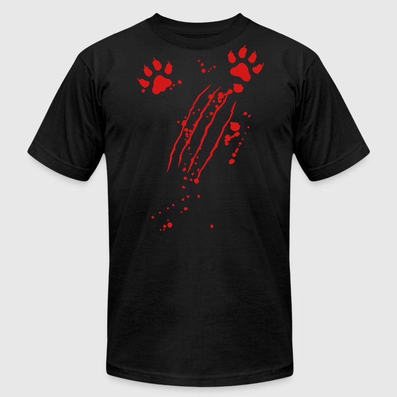 Scratch mark with blood and paws T-Shirts - Men's Fine Jersey T-Shirt