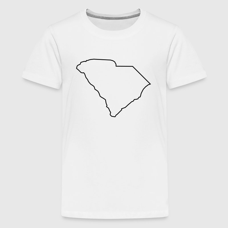 South Carolina,map,landmap,land,country,outline Kids' Shirts - Kids' Premium T-Shirt