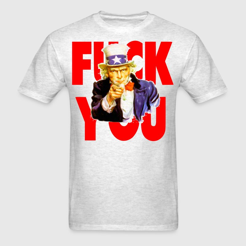 Uncle Sam Says Fuck You - Men's T-Shirt