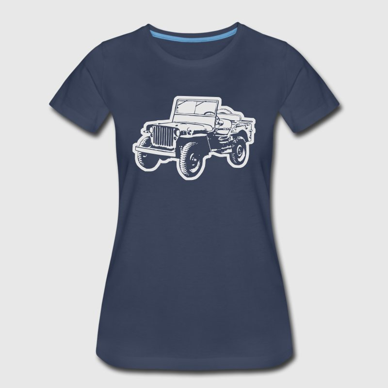 Willys Jeep (diff. color) Women's T-Shirts - Women's Premium T-Shirt
