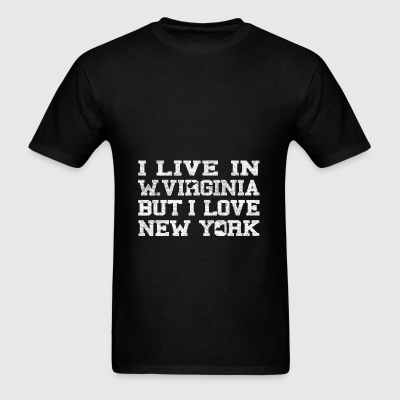 Live West Virginia Love New York Bags & backpacks - Men's T-Shirt