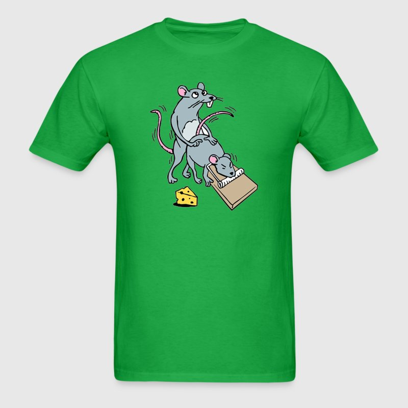 Mouse Screwing a Mouse in a Mousetrap  T-Shirts - Men's T-Shirt