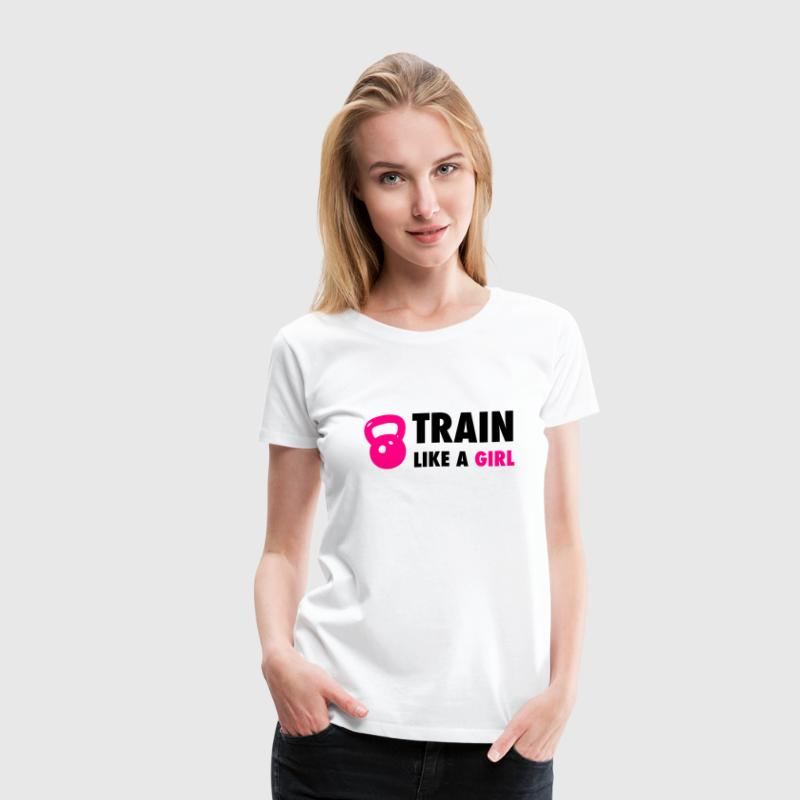 Train Like A Girl - Women's T-Shirts - Women's Premium T-Shirt