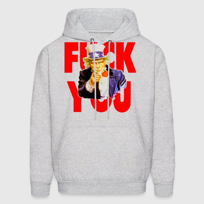 Uncle Sam Says Fuck You Hoodies - Men's Hoodie
