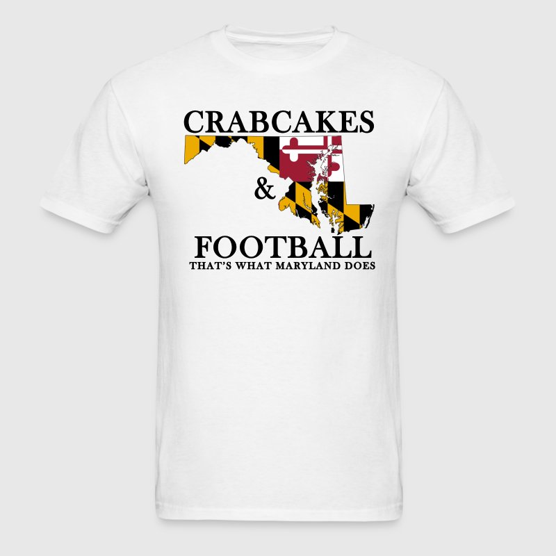 Crabcakes & Football T-Shirts - Men's T-Shirt