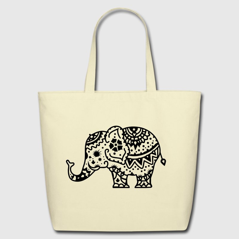 a decorated Indian elephant Bags & backpacks - Eco-Friendly Cotton Tote