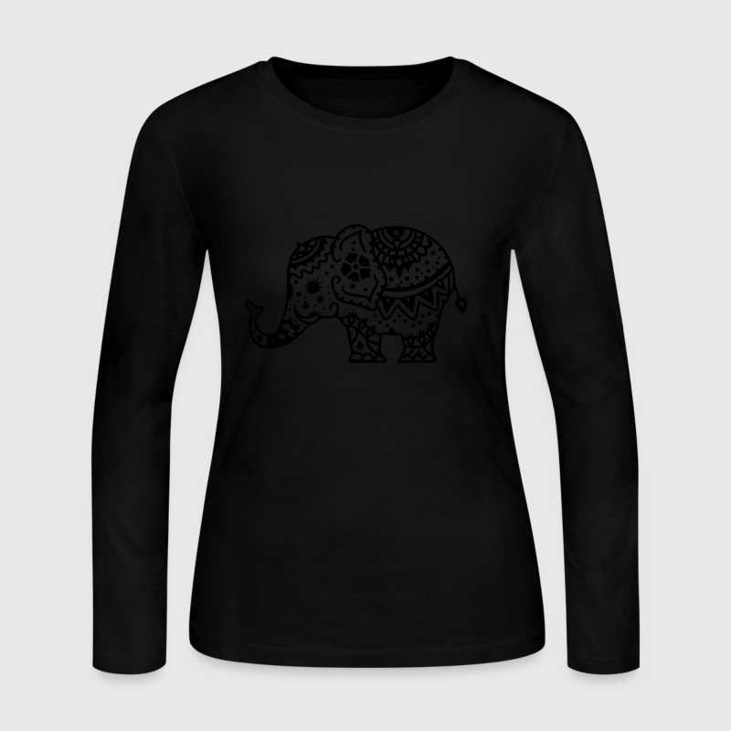 a decorated Indian elephant Long Sleeve Shirts - Women's Long Sleeve Jersey T-Shirt
