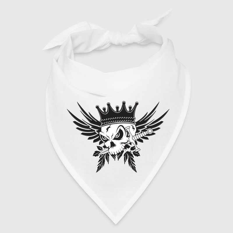 King Skull with Dagger Caps - Bandana