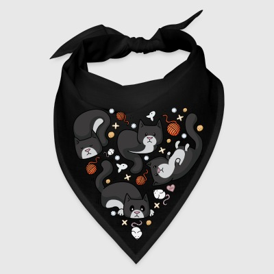 Kitty Heart - Tuxedo Bags & backpacks - Bandana