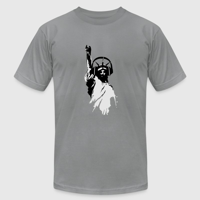 Lady liberty with dj headphone vector t shirt spreadshirt Dj t shirt design